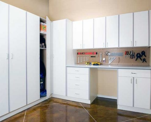 Classic-White-Garage Storage and Closets