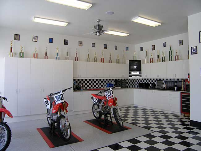 Racing Theme Garage Organization