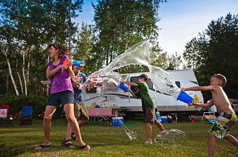 Water-Fight-Family-Camping