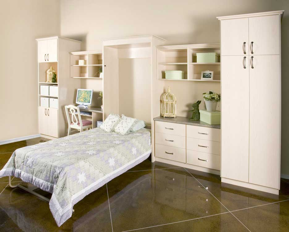 White-Wall-Bed Displayed