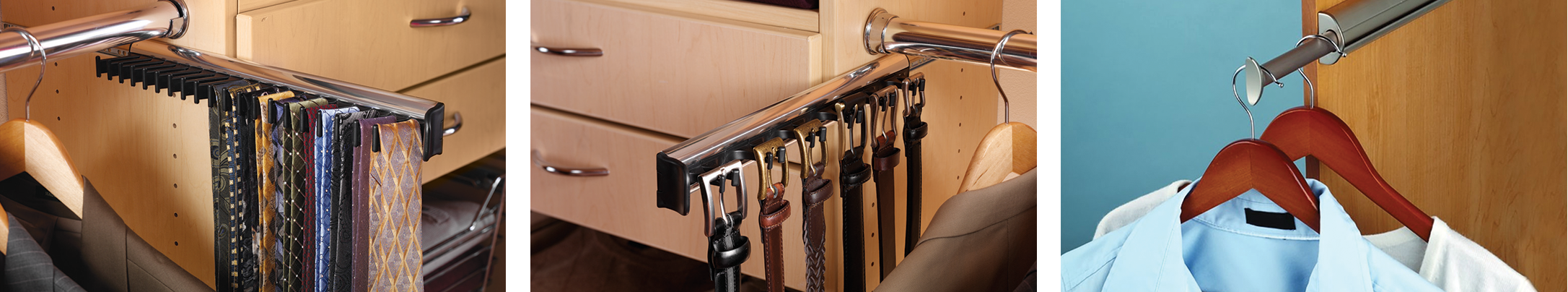 Closet Accessories Tie Rack, Belt Rack & Pant Rack