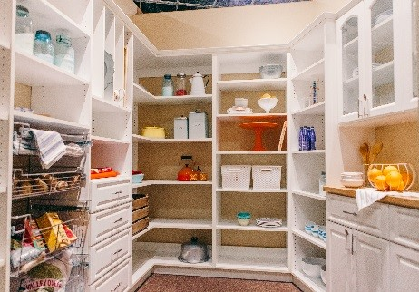 White Home Kitchen Pantry