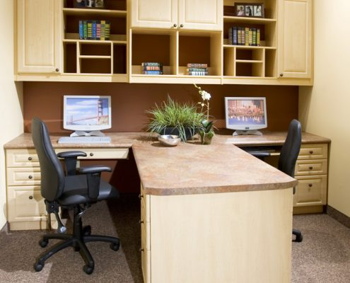 Traditional Maple Office