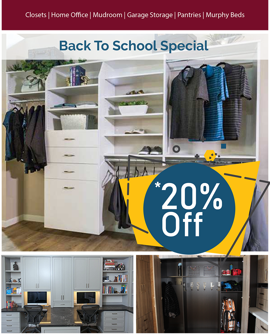 20 Percent Off - Back To School Special