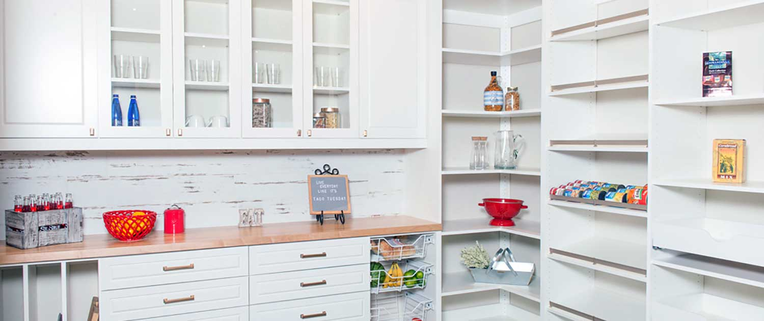White Custom Kitchen Pantry